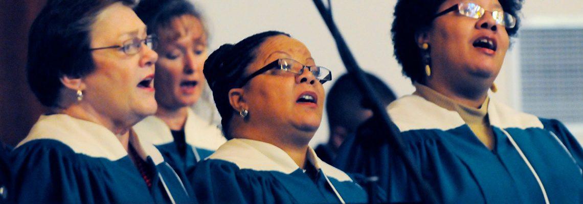 Church choir singing Christian music.